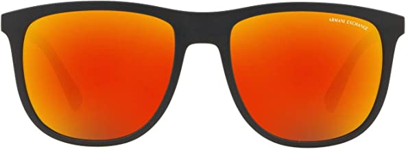 A|X Armani Exchange Men`s AX4078S Square Sunglasses, Matte