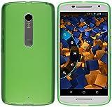 mumbi Hülle kompatibel mit Motorola Moto X Play Handy Case Handyhülle, transparent grün