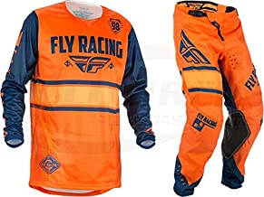 Mens Yellow /& White /& Navy Medium//32W 2019 F-16 MX Riding Gear Combo Set Fly Racing Motocross Off-Road Dirt Bike Light Weight Durable Jersey /& Mesh Comfort Liner Stretch Pre Shaped Knees Pant