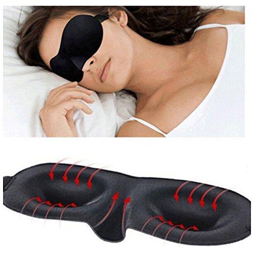 Funshow Premium Quality Eye Mask con forma sagomata - ultra leggero e confortevole regolabile Capo Strap - Sleep in qualunque momento dovunque