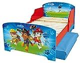 Fun House Pat'Patroille - Cama de 140 x 70 cm, con láminas con 2 cajones de Almacenamiento, para niños, MDF, Color Azul