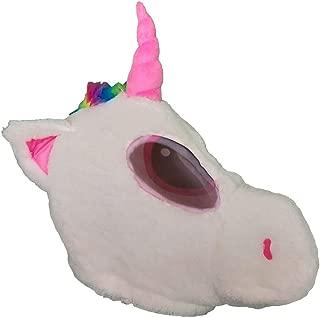 Plush Horse Animal Head Mask Halloween Unicorn Mascot Costume