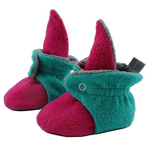 SmukkeDesign SmukkeDesign Baby Bootie Babyschuh Krabbelschuh Lauflernschuh Babybooties für Mädchen und Jungen NEU pink türkis (6M)
