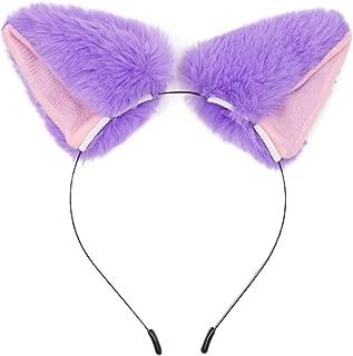 BAOBAO Women Girl Cat Fox Long Fur Ears Headband Party Cosplay Costume Hairband