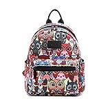 Fvstar 11' Owl Girls Mini Backpack Purse Canvas Casual Lady Backpack Women Travel Daypack Kids School Satchel Teens College Knapsack