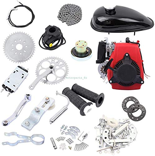 Buy Bargain scooter DIY 4-Stroke 49CC Gas Petrol Motorized Bicycle Engine Motor Kit Black