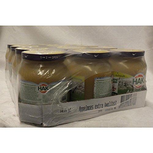 HAK Appelmoes extra Kwaliteit 12 x 360g Glas (Apfelmus extra Qualität)