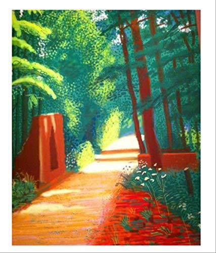 DPFRY Leinwandbild Klassische Tapete David Hockney Print Wohnzimmer Dekoration Kunstwerk Moderne Wandkunst Poster Replik Kc2T 40X60 cm Ohne Rahmen