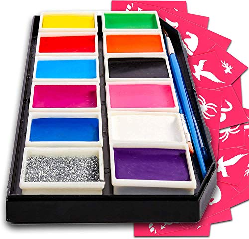 Colorful Art Co. Face Paint Kit - Kids Halloween Makeup Kits (3...