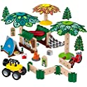 Fisher-Price 60+ Piece Building and Wooden Track Play Set