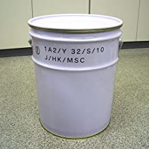 ペール缶(UN仕様)20L鉄製 内面金ニス塗装 オープン(蓋・外レバーバンド付)