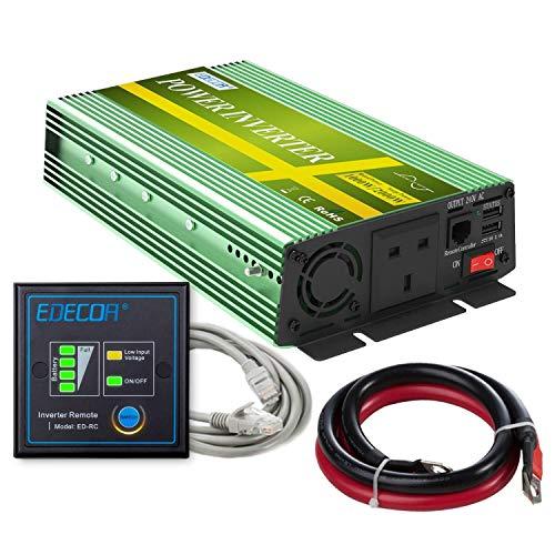 JQZ Car Inverter Inverter 1000W DC 12V bis 240V AC Converter 2 USB-Anschlüsse mit Fernbedienung USB Car Inverter (Size : New Version with USB)