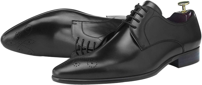 BONGZUO Derby män Oxford skor, bilved läder Tips Europe Europe Europe och The United States British Wind läder skor Casual Business Formal bröllop Handgjorda skor, YJ18 -D21  försäljning online rabatt