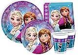 Ciao-Kit Party Tavola Disney Frozen per 8 Persone (44 Pezzi Ø23cm, 8 Piatti Ø20cm, 8 Bicchieri, 20 Tovaglioli), Multicolore, S, Y2500