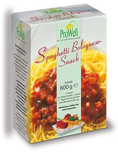 ProWell Diät- und Ernährungsprogramm - Spaghetti-Bolognese-Snack - 600 g (5 Portionen)