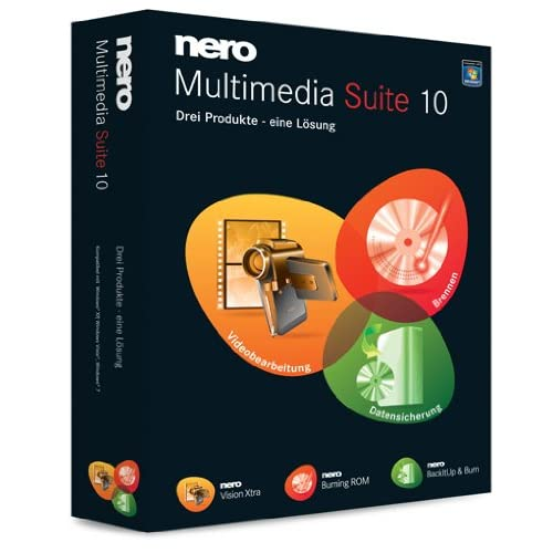 Nero Multimedia Suite 10 - graphics software (Box, PC, 5000 MB, 512 MB)