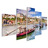 Bild Bilder auf Leinwand Douro River in Porto Portugal