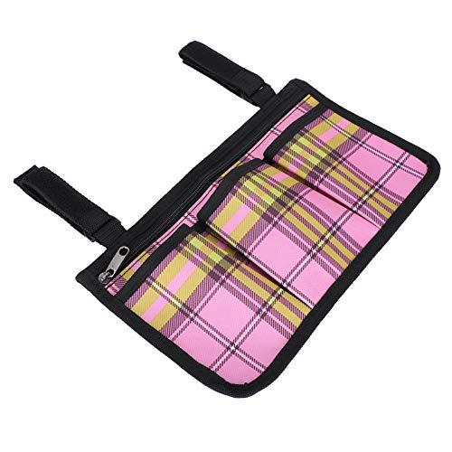 DFGH Rollstuhltasche Rollstuhl Side Bags Werkzeugtasche Mehrere Taschen Aufbewahrung Beutel Armlehne Zubehör Rose Rot