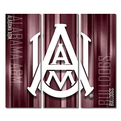 Victory Tailgate Alabama A&M University Bulldogs Triptych Canvas Wall Art Rush (48x54 inches) image