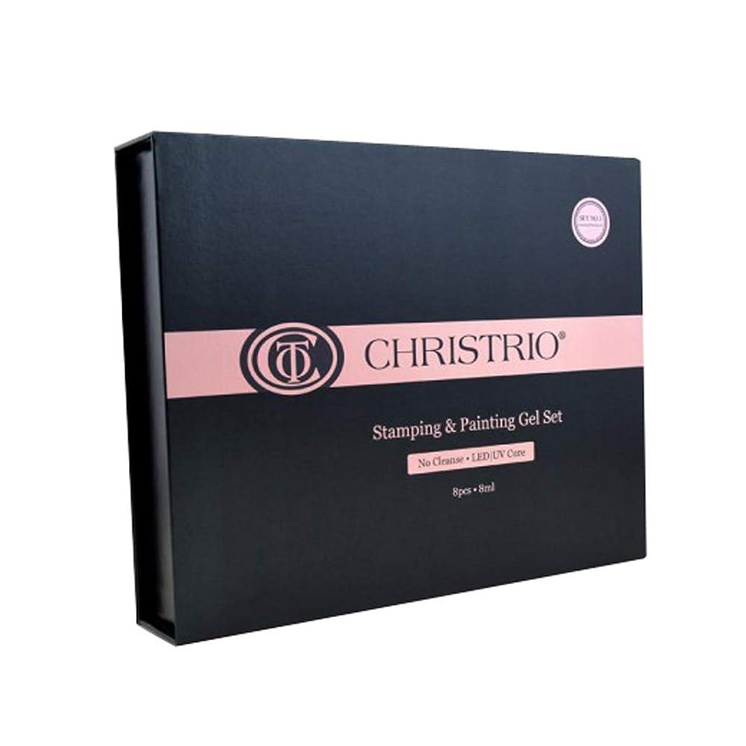 雰囲気申込み雲CHRISTRIO スタンピング&ペインティングジェルセット No.1