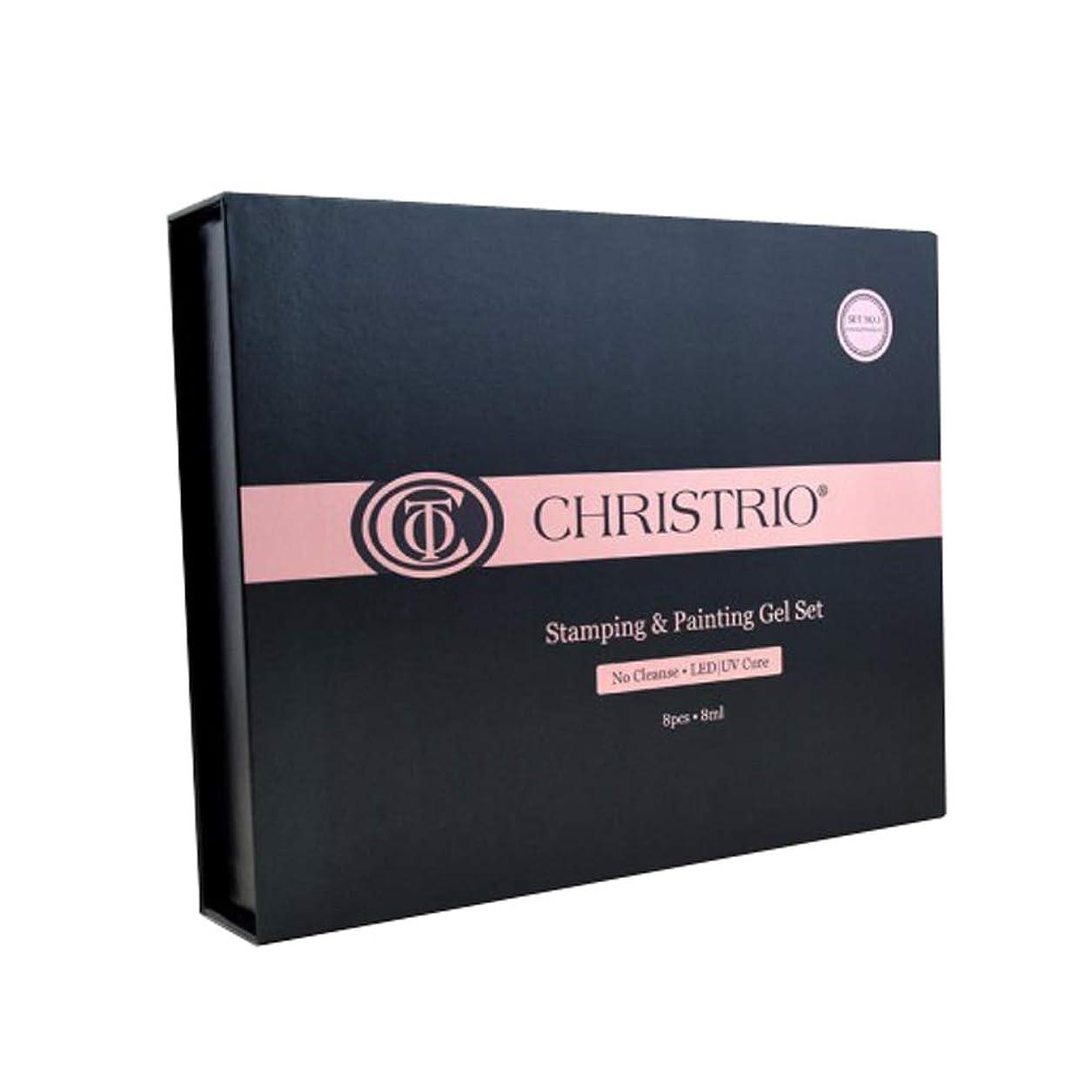 制限するためらう目に見えるCHRISTRIO スタンピング&ペインティングジェルセット No.2