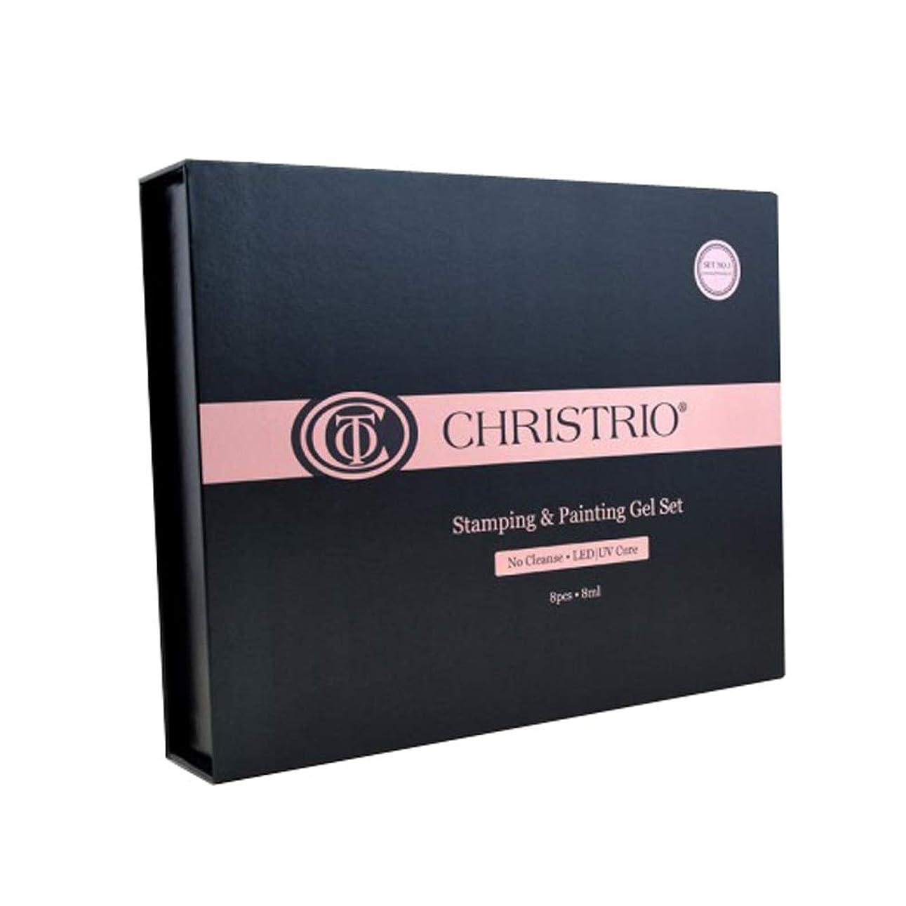引退するスチュワーデスめったにCHRISTRIO スタンピング&ペインティングジェルセット No.2