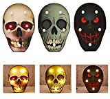 Xshelley Halloween. 3 Types of Ghost Head Skull Decoration Night Light, 6.85.1 inch Led Skull Head-Holiday Party Home and Outdoor Decoration