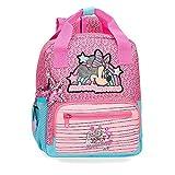 Disney Minnie Pink Vibes Mochila Preescolar Adaptable a Carro Rosa 23x28x10 cms Poliéster 6.44L