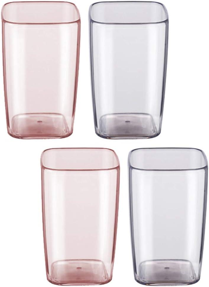 Cabilock 2pcs Bathroom Tumbler Cup T New product! New type Break-Resistant quality assurance Transparent