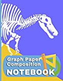 Graph Paper Notebook Spinosaurus: Dinosaur Fossil Themed Quad Ruled - 4 Squares Per Inch - 8.5 by 11 - 150 Page Notebook