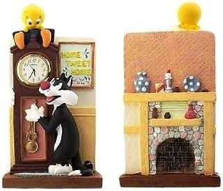 Looney Tunes Ceramic Tweety Bird & Sylvester Mantle Clock