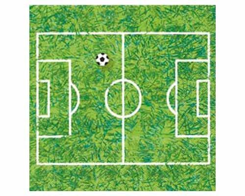Paper+Design 20 Serviettes 33x33 cm motif vert et blanc Soccer field terrain de football