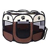 Box per animali pieghevole I Box per cani da corsa per viaggiare I Box per gatti per quando si va in giro I Box per cuccioli in poliestere I In 2 misure con cerniera (S (73 x 73 x 43 cm), Style 3)