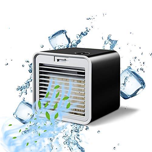 SETSCZY Miniventilador de Aire Acondicionado portátil, purificador de Aire Personal, humidificador, USB, Ventilador de refrigeración de Aire para el hogar y la Oficina,Negro
