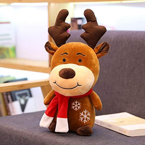 N / A Heiße Neue Weihnachten Hirsch Plüsch Rentier Pelz Hirsch Weihnachtsdekoration für Home Ornament Frohes Neues Jahr Kinder Geschenk 22CM