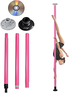 AW Portable Non-Spinning Dance Pole Full Kit Package Exercise Club Party Weight Loss Fitness 50mm with Bag