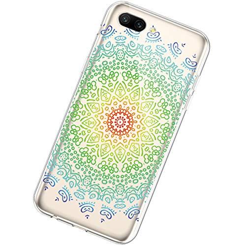 Urhause Kompatibel mit Huawei Honor 10,Kreativ Malerei Mandala Muster Handyhülle Ultra Slim Weich Flexibel TPU Schutzhülle Durchsichtig TPU Silikon Fallschutz Kratzfest Schutzhülle,#2