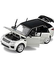 Maquetas de coches 1/32 Range Rover Sport Simulación De Coche De Juguete Modelo De Aleación Tire Hacia Atrás Colección De Juguetes Para Niños Regalo Vehículo Todoterreno