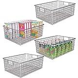 MDESIGN 4er-Set Allzweckkorb – der Flexible Aufbewahrungskorb für die Küche, Vorratskammer etc....