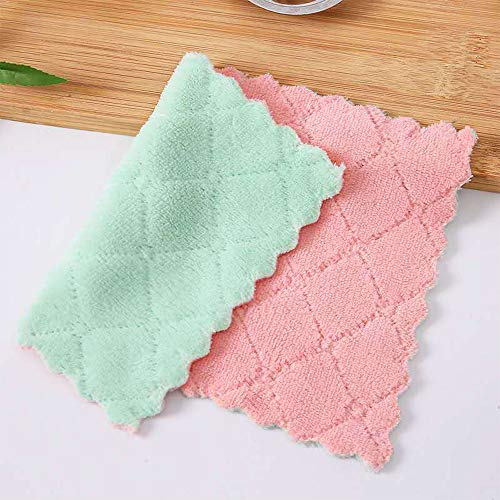 Dishcloth Cellulose Sponge Cloths 10 Pack of Eco-Friendly No Odor Reusable Cleaning Cloths for Kitchen - Absorbent Dish Cloth Hand Towel (10 Dishcloths - Assorted) (2)