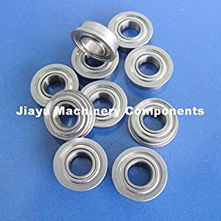 Fevas 50 PCS SFR156ZZ Flanged Bearings 3/16 x 5/16 x 1/8 inch Stainless Steel Flange Ball Bearings DDRIF-5632ZZ