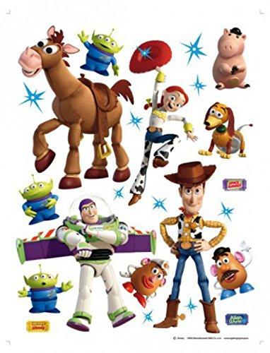 1art1 Toy Story - Woody, Andy, Buzz Lightyear, Slinky, Bulli Wand-Tattoo | Deko Wandaufkleber für Wohnzimmer Kinderzimmer Küche Bad Flur | Wandsticker für Tür Wand Möbel/Schrank 65 x 42 cm