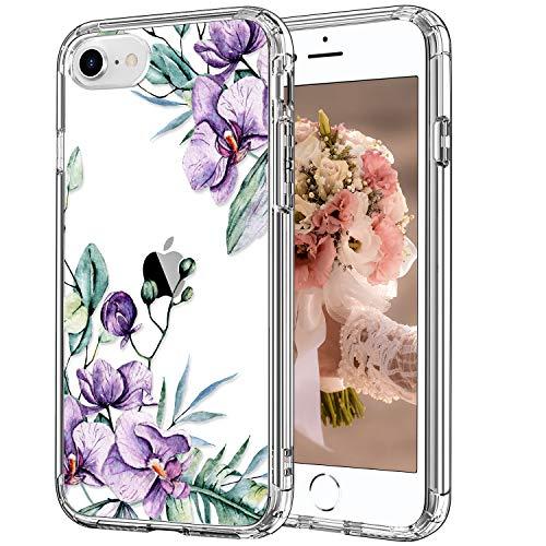 iPhone SE Case 2020,iPhone 7 Case,iPhone 8 Case Clear with Design,Cute Floral Flower Patterns for Girls Women,Slim Fit TPU Bumper Protective Phone Case for iPhone SE2/iPhone 7/iPhone 8one SE Case-90