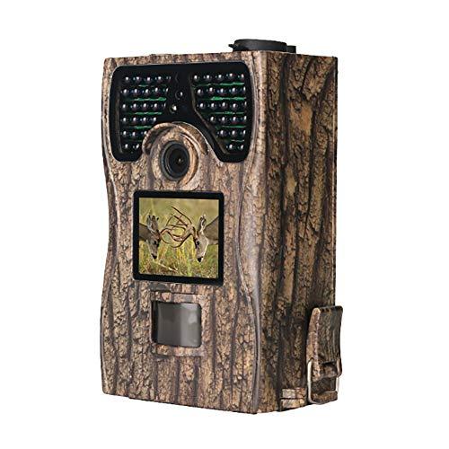 """TRAACEM Überwachungskamera 12MP 1080P 2,4\""""Wild- Und Jagdkamera Mit LCD-Display, 48 W Infrarot-LED-Nachtsicht, Bis Zu 23 M, IP56, Wasserdicht Für Die Wildtiererkennung"""