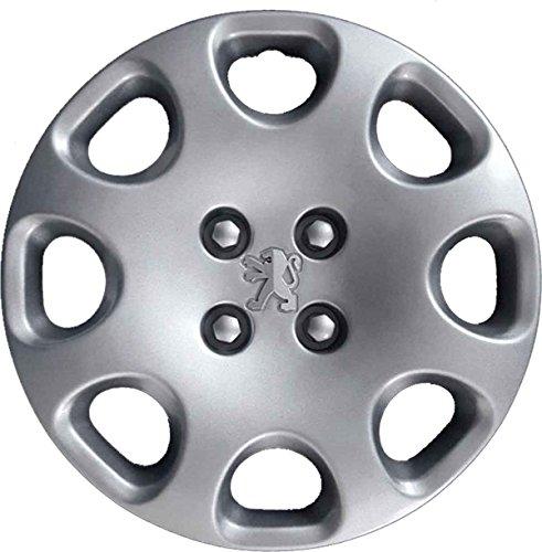 Aftermarket - Juego de 4 tapacubos, para ruedas de 15 pulgadas, para Peugeot, producto no original (número de parte 9360)