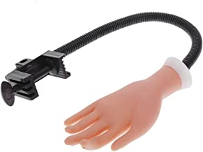 Crisnails® Mano de Caucho Flexible de Práctica para Aprendizaje de Manicura Uñas y Exhibición