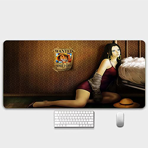 One Piece Mouse Pad Anime Gaming Mouse Pad Costura Bordes Impermeable Mousepad Pixel-Perfect Mouse Mat7003003mm-A_8003003MM