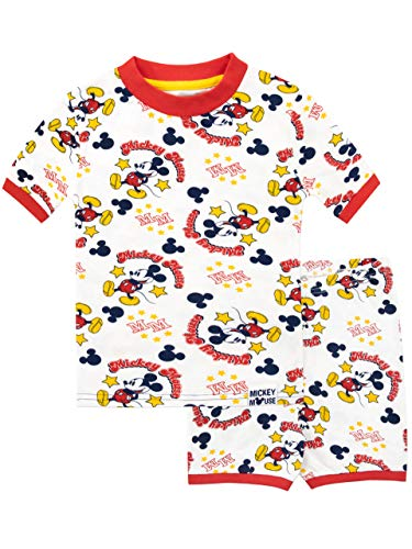 Disney Pijamas Manga Corta niños Mickey Mouse Blanco