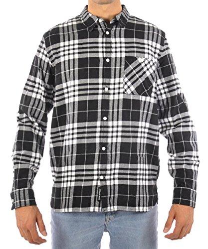 Cheap Monday Camicia Give Shirt Clean Tartan Check Black 441401 M