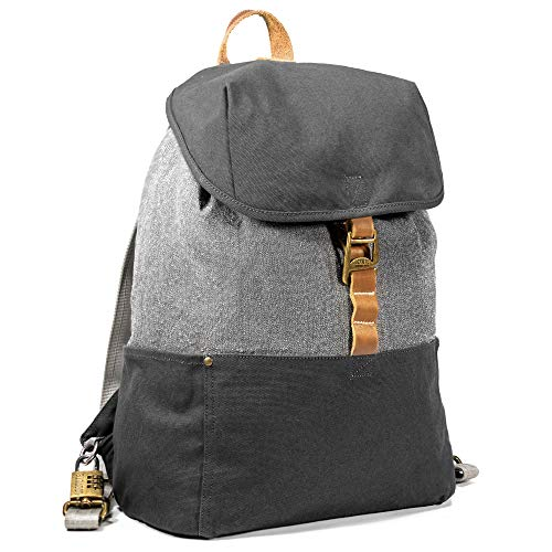LOCTOTE Cinch Pack - World's Most Secure Backpack | Slash-Resistant | Lockable | Portable Safe | Anti-Theft (Vintage Grey)